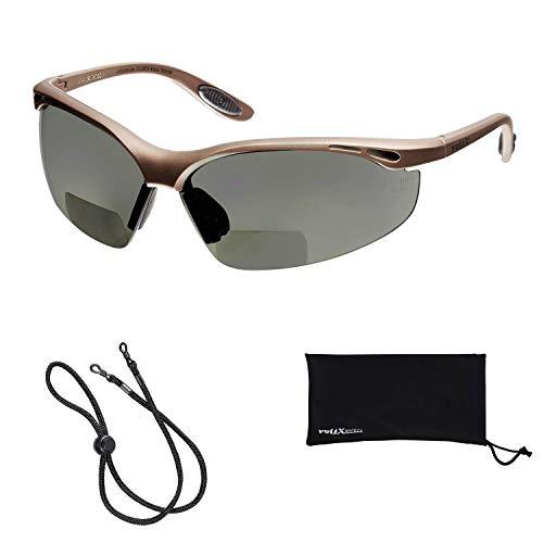 voltX 'Constructor' POLARISIERT Bifokale Lesen Schutzbrille, (+2.5 Dioptrie) CE EN166F Zertifiziert/Sportbrille für Radler - Polarised Safety Reading Glasses