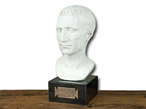 Gaius Julius Caesar - römische Büste Kopf Replik - Forum Traiani - Cäsar Statue Figur - Archäologische Museum Repliken - Imperium der Römer (Caesar Julius Von Statue)