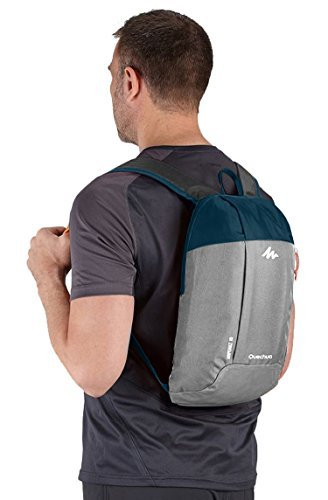 Quechua Hiking Backpack, 10Liters (Grey/Blue)  available at amazon for Rs.399