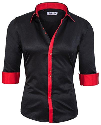Rock Creek camicia Slim Fit Business Kent colletto camicia da uomo Oxford LL–�?01S–XXL Nero