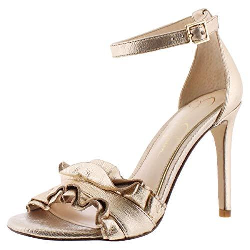 Jessica Simpson Silea Peep-Toe Dress Sandals Gold 6.5M - Jessica Simpson Peep Toe