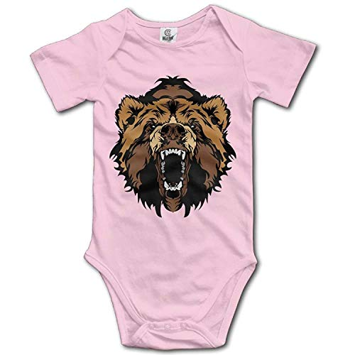 TKMSH Unisex Baby's Climbing Clothes Set Bear Face Bodysuits Romper Short Sleeved Light Onesies for 0-24 ()