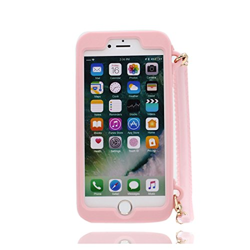 Nero 3D pesce ) iPhone 8 Custodia, iPhone 8 copertura 4.7 Survivor Protective case / Cartoon Morbido TPU Cover Shell Scivolamento di polvere / Protezione TPU Shell Skin rosa