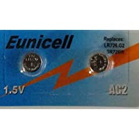 Shipping with Tracking 2x Eunicell Alkaline AG2Button Cell Batteries–G2LR59/LR726/396/397SR726W