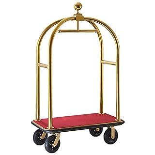 Hotelgepäckwagen, goldfarben