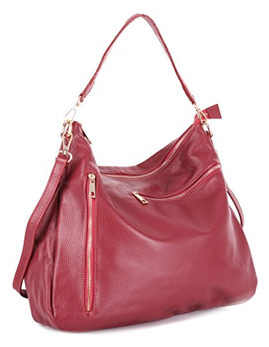 Big Handbag Shop, Borsa a mano donna Taglia unica Deep Red