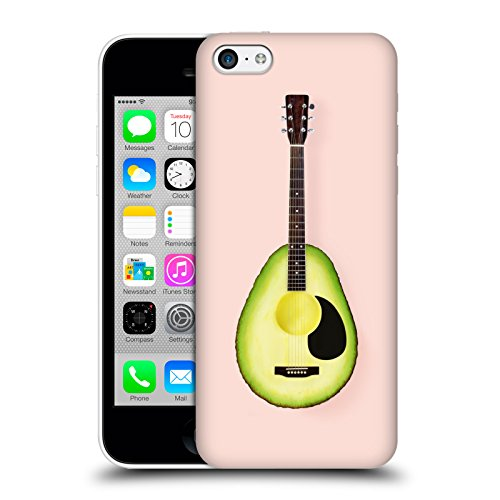 ufficiale-paul-fuentes-avocado-chitarra-pastelli-cover-retro-rigida-per-apple-iphone-5c