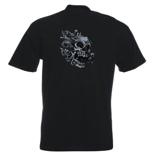 T-Shirt - Buddy Skull 24 - Totenkopf - Herren Schwarz