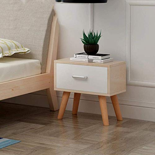 Afanyu Afanyu Beistelltisch Schreibtisch Ende Nachttisch Massivholz Nachttisch Schlafzimmer Spind Kommode Aufbewahrungsbox,Lack Colo -