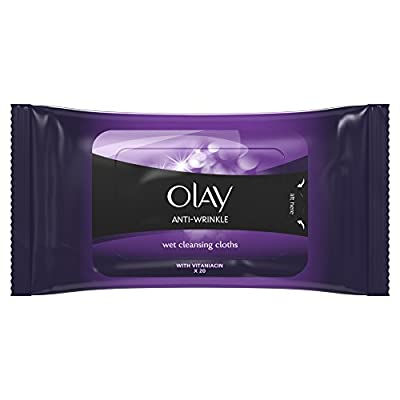 Olay Anti-Wrinkle Firm and Lift Anti-Ageing Wet Skin Cleansing Cloths, 20 Wipes from Olay