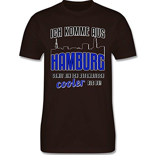 Städte - Ich komme aus Hamburg - Herren Premium T-Shirt Braun