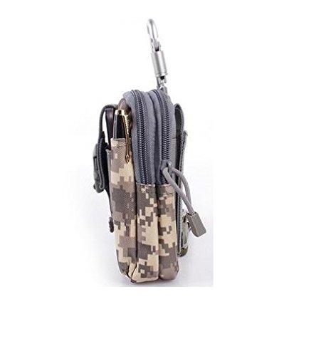 Unigear Taktische Hüfttaschen Molle Tasche Gürteltasche MOLLE Beutel Militär Ideal für Outdoorsport Multifunktionen Praktische Ausrüstung mit Extrafreiem Aluminiumkarabiner ACU