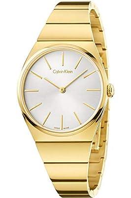 Calvin Klein Reloj Analógico para Mujer de Cuarzo con Correa en Acero Inoxidable K6C2X546 de Calvin Klein