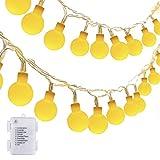 ECOWHO Lichterketten Kugel 40 LEDs String Lichter Wasserdicht mit 8 Arten von Bleuchtungmodi für Balkon Garten Partys Hochzeit Bäumen Weihnachten Halloween Valentinstag (warmweißes Licht)