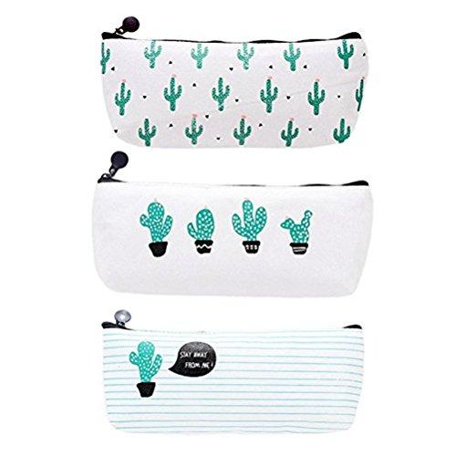 drawihi Kakteen Pastorable Leinwand Pen Tasche Bleistift Fall Erstbezug Cool Cactus Stile