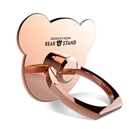 Gudoqi® 3 forma d'orso supporto anello supporto del telefono 360 gradi di rotazione supporto anello per il iphone 6s plus / 7 plus samsung gudoqi® galaxy smartphone e ipads (oro rosa)