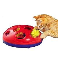 Tanto divertimento per allenare la destrezza del vostro tigrotto di casa. Il gioco per gatti KONG Glide'n Seek è stato appositamente sviluppato per stimolare il naturale istinto di caccia e di gioco di Micio. Due piume colorate guizzano, salt...