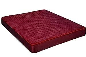 Shagun 4-Inch Queen Size Foam Mattress-72X60X4 Inches, Red
