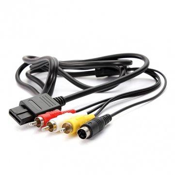 Preisvergleich Produktbild 6ft AV TV S-Video AV-Kabel für Super Nintendo GameCube 64N64SNES NGC