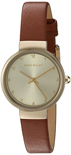 Karen Millen Women's Brown Leather Strap Watch