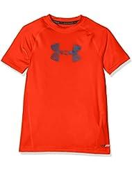 Under Armour Armour SS Camiseta Deporte, Niños, Naranja (Dark Orange), YMD