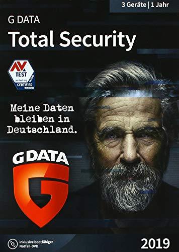 G DATA Total Security 2019 für 3 Windows-PC / 1 Jahr / Erstklassiger Rundumschutz durch Firewall & Antivirus / Trust in German Sicherheit