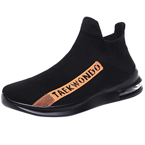 Mitlfuny Herren Mesh Ultraleicht Sportlich und Atmungsaktiv Sicherheitsschuhe rutschfest Jogger Turnschuhe,Herren Sommer fliegen gewebte atmungsaktive Slip-On Socken Schuhe Air Cushion Sneakers Braided Wedge Sandal