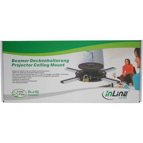 InLine 23138A Deckenhalterung für Beamer (max. 20kg) - 3