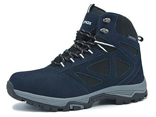 Knixmax Damen Herren Wanderschuhe Hiking Schuhe Outdoor Anti-Rutsch-Sohle Wasserdicht Trekking-Wanderhalbschuhe, EU 41-Damen, Blau