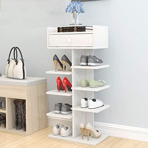 JIANPING Mehrschichtige Schuhablage einfach zu Hause sparen Platz Familie Holzimitat Schuhschrank Schlafsaal Tür kleine Schuhablage 24x40x77.5cm Schuhregal (Color : A)