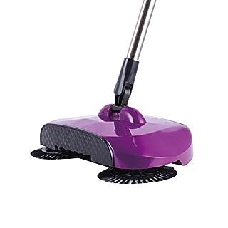 AMYMGLL Besen Kehrblech Set Hand drücken Typ Haushalt Kehrmaschine Reinigungsartikel halbautomatisch faule Besen Sweep Pull Eine Maschine Tuch ein Geschenk lila Hand-Push Kehrmaschine