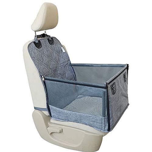 XinC Pet Car Booster Seat wasserdichte Auto Hund Katze Vordersitz Co-Pilot Position Pet Car Mat Mit Mesh-Reißverschluss (30 Pfund Reis)