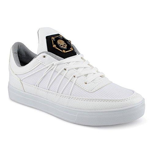 FiveSix Herren Sneaker Sportschuhe Laufschuhe Freizeitschuhe Mehrfarbig Schnürschuhe Low-Top Schuhe Weiss EU - Yeezy Nike 1