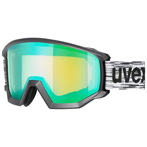 Uvex Athletic FM - Maschera da Sci per Adulti, Unisex, S550520, Nero, Taglia Unica