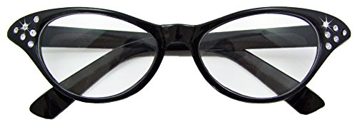 Fifties Cat Eye Brille Diamond - Fifties Kostüm Schmuck