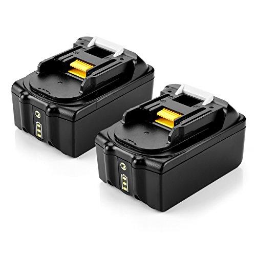 Preisvergleich Produktbild 2 Stück OPSON 18V 5, 0Ah Ersatz Akku für Makita BL1850 BL1840 BL1830 BL1820 BL1815 194205-3 194309-1 LXT400