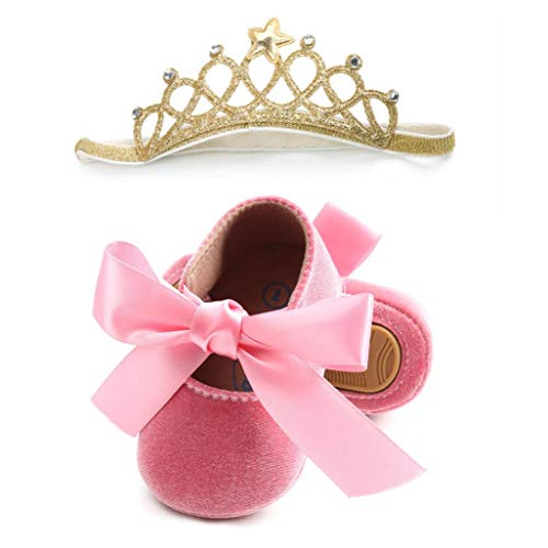 543cb1e943 Zapatos de bebé, ASHOP Niña Casuales Zapatillas del Otoño Invierno Bowknot  Deporte Antideslizante del Zapatos