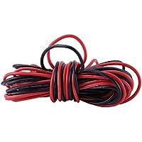 2 x 18 Gauge AWG Resistente Flessibile Silicone Rosso Nero Filo Elettrico per PC