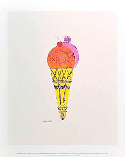 Andy Warhol Ice Cream Dessert c.1959 (red & pink) Poster Kunstdruck Bild 36x28cm - Germanposters (Andy Warhol Ice Cream)