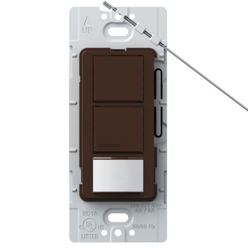 Lutron Lutron MS-OPS6-DDV-BR Maestro 6 Amp Single Pole Dual Circuit Occupancy Sensing Switch, Brown by Lutron -