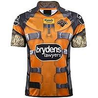 CBsports Wests Tigers, Jersey De Rugby,Hero Edition II, Nueva Tela Bordada, Swag Sportswear (Amarillo, XL)