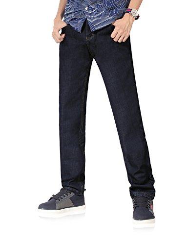 Demon&Hunter 801 Series Men's Polar-Fleece Straight Leg Jeans