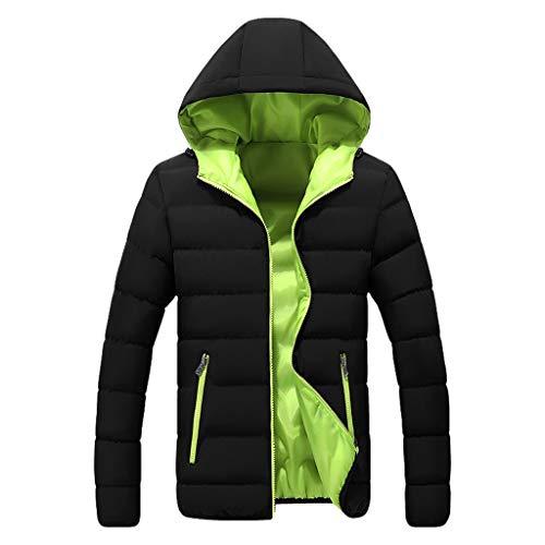 ODRD Damen Mäntel - Herren Winter Casual Color Collision Zipper Hoodie Baumwolle Gepolsterte Jacke Mantel - Windbreaker Freizeitjacke Daunenjacke Cardigan Winterjacke Coat Overcoat