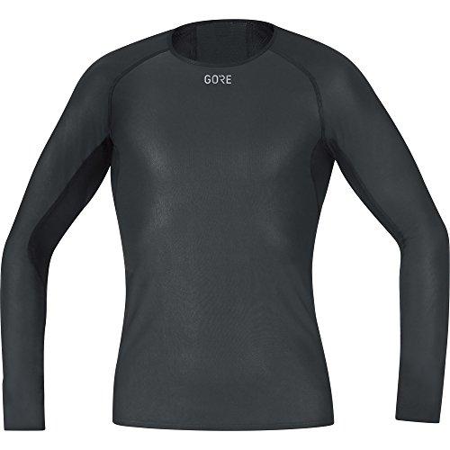 GORE WEAR Herren M Windstopper Base Layer Langarm Shirt, Black, M