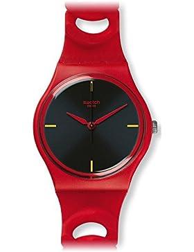 Swatch Damen-Armbanduhr Cranberry Link Analog Quarz GR164