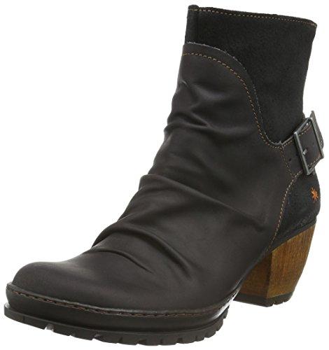 artOslo - Stivali bassi con imbottitura leggera Donna, colore nero (olio-wax nero), taglia 38 EU (5 UK)