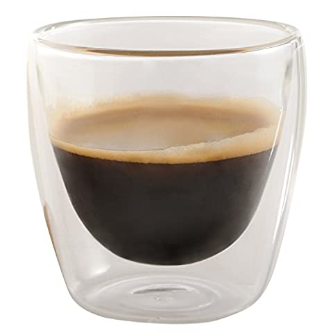 Set of 6 Double Wall Coffee Cup Thermal Espresso Glasses, 3.4 oz - Jecobi by Jecobi