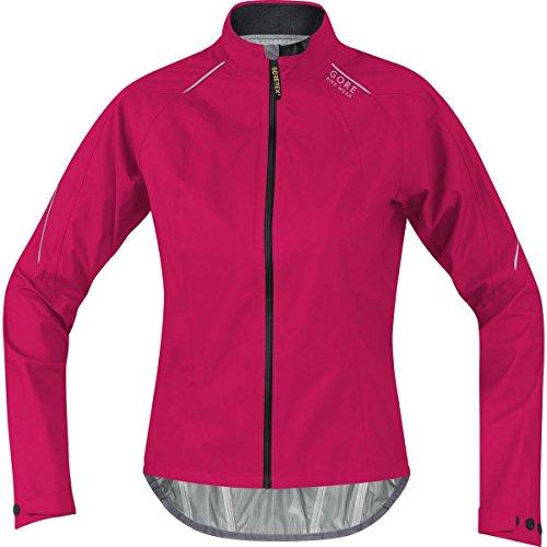 GORE BIKE WEAR, Giacca Ciclismo su strada Donna, Compatta e impermeabile, GORE-TEX Active, POWER LADY GT AS, Taglia 36, Rosa/Grigio, JGPOWL0899