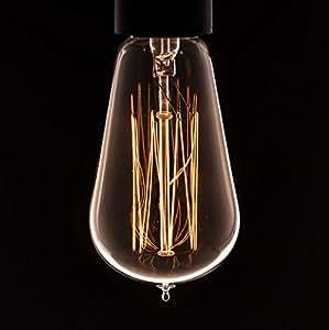 Vintage Light Bulb Pear Squirrel Cage Filament - Bayonet