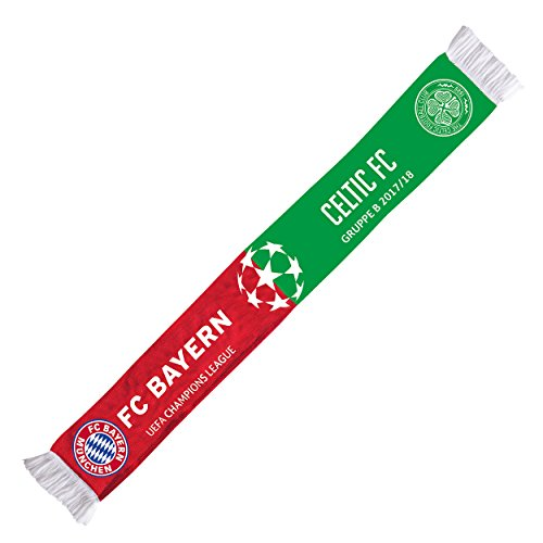 bufanda cl Grupo Fase Celtic 17/18FC Bayern Múnich + Gratis Pegatinas München Forever, bufanda/rassis/Viciado FCB